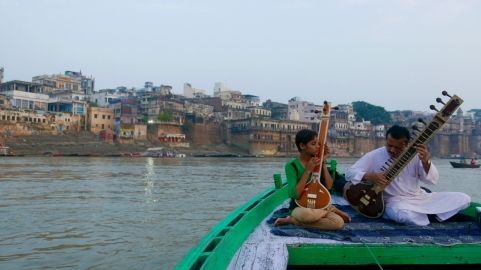 Morning raga on the Ganges