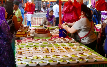 Sweet corner, street market